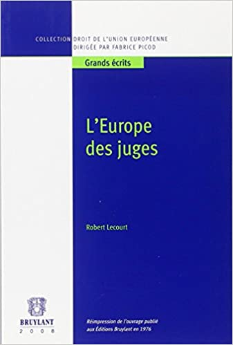 Book Cover: L'Europe des juges