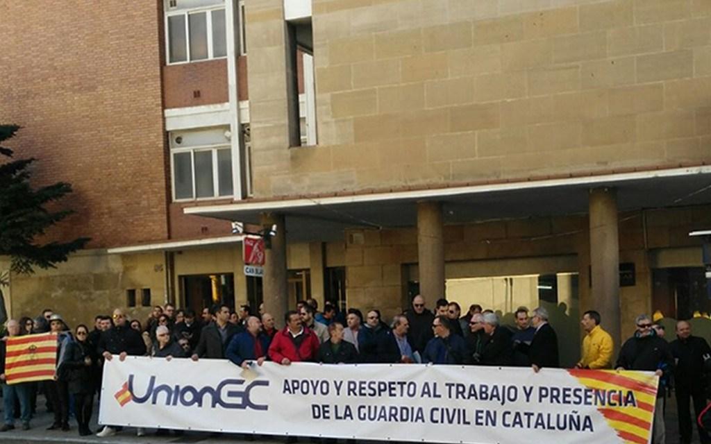 Absoluto rechazo de @UnionGC al acto convocado por la CUP y al hostigamiento a la Guardia civi en #Cataluña