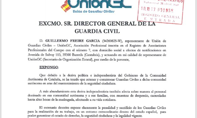 UnionGC solicita la Cruz al mérito de la Guardia Civil para todos los participantes en el dispositivo 1-O