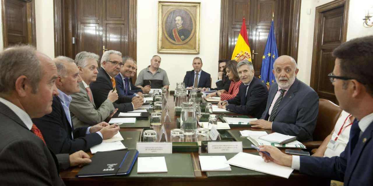 Reunión de las asociaciones profesionales de guardias civiles con los responsables ministeriales