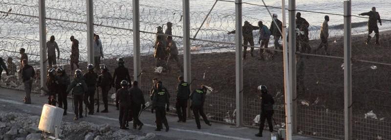 UnionGC pide usar material antidisturbios en Ceuta y Melilla: «Nuestras vidas están en juego»