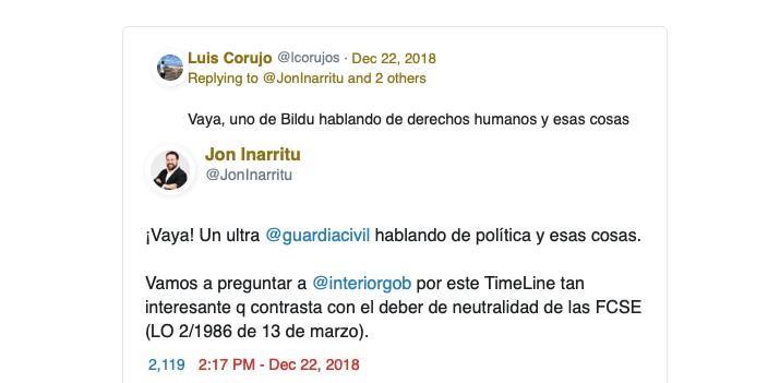 Triunfo de UnionGC defendiendo a un compañero al que políticos de Esquerra y EH Bildu solicitaron un correctivo