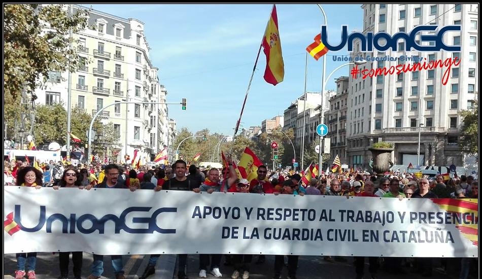 UnionGC participa en la manifestación de apoyo a la Unidad de España en Barcelona