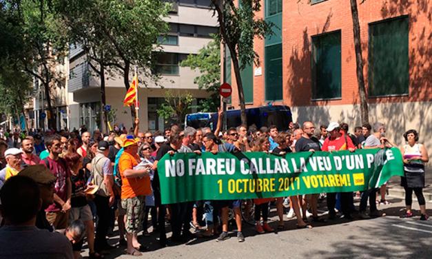UnionGC pide a la Fiscalía que investigue la concentración frente al cuartel de Travessera de Grácia