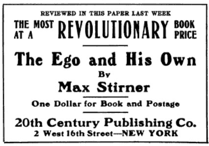 """Advertisement found in """"The Public"""" Vol. X No. 487, August 3rd, 1907"""
