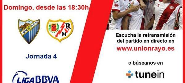 Sigue el Alcobendas – Rayo B y el Málaga – Rayo en Unión Rayo