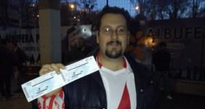 El ganador de las dos entradas disfrutó del Rayo – Celta