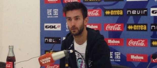 """Alberto Bueno: """"Queremos regalarle a la afición un triunfo ante el Real Madrid"""""""