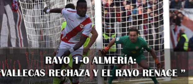 Crónica: Rayo 1-0 Almería