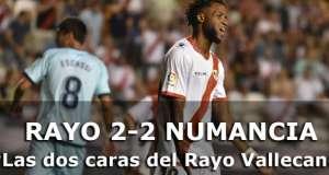 Crónica: Rayo Vallecano 2-2 Numancia