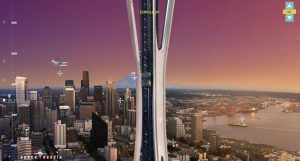 Seattle Space Needle parallax scrolling websites