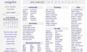 brutalist websites - craigslist NYC