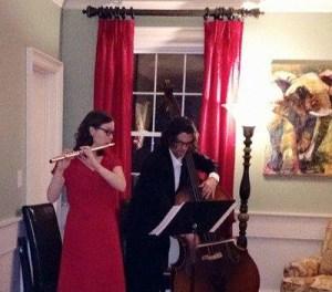 Kirstin Contreras, flute, and Dennis Contreras, bass