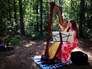 Harpist at Huneycutt-Medlin Wedding