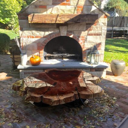 Outdoor Redwood Coffee Table