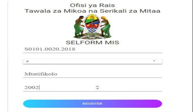 Selform Changing Combination TAMISEMI 2021   Selform Form Four 2021