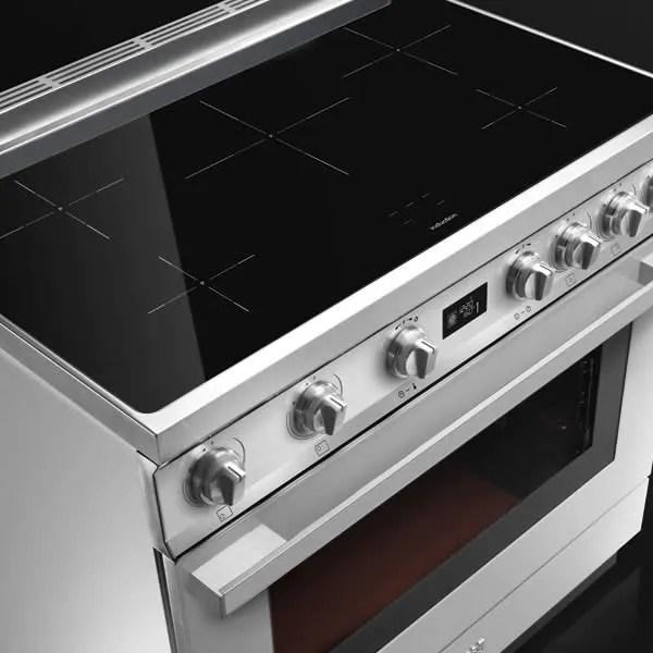 Cucina Elettrica Induzione Smeg Cpf9ipog 90 Cm Verde Oliva