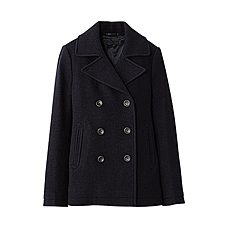 WOMEN Wool Pea Coat