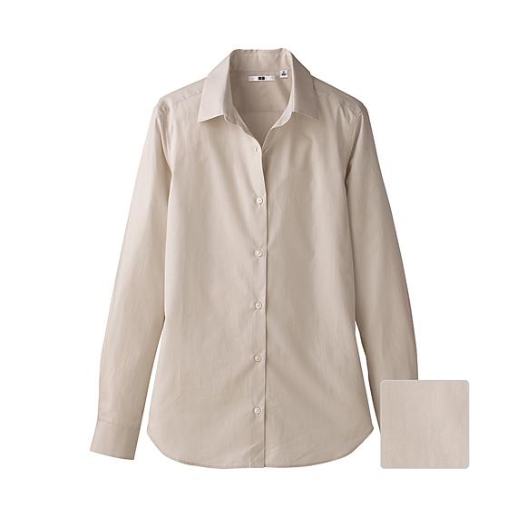 WOMEN Extra Fine Cotton Long Sleeve Shirt