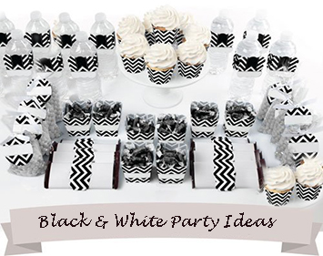 Black And White Baby Shower Themes Ideas Cakes Invitations And Decorations