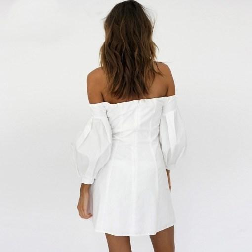 rochie, rochie scurta, rochie alba, rochii, haine, haine dama, unique fashion,