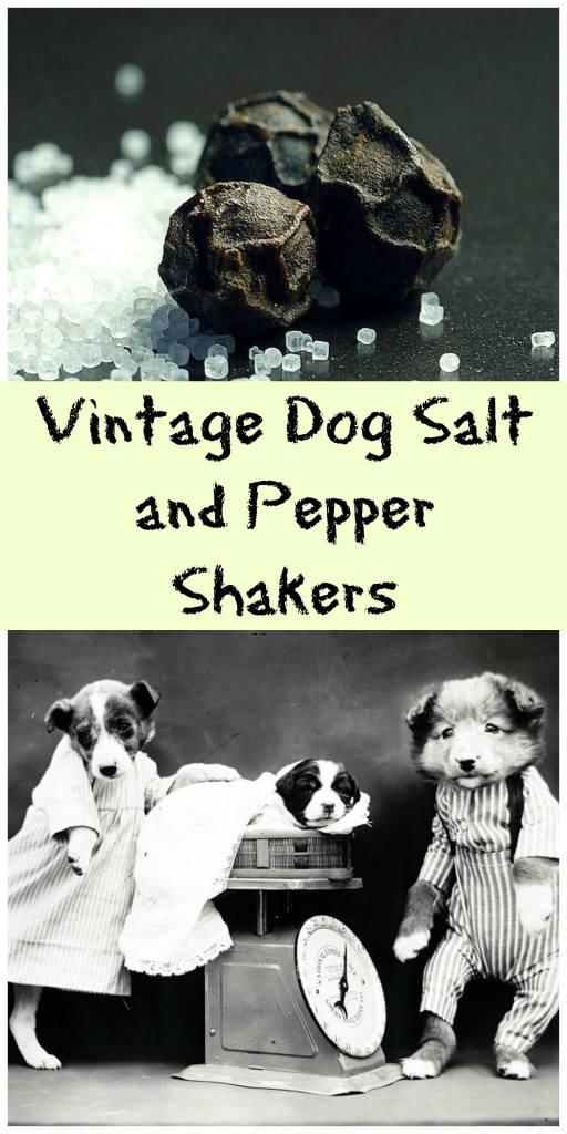 Vintage dog salt and pepper shakers