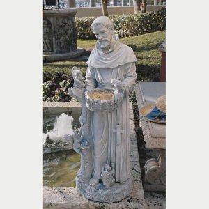 St Francis lawn statues