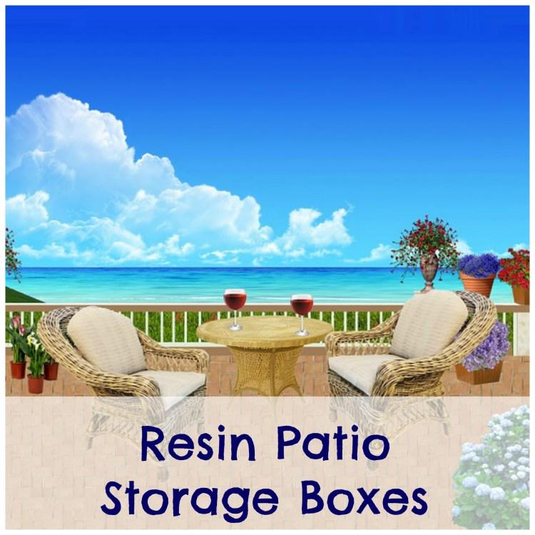resin patio storage boxes