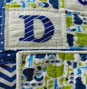 ABC Animals Handmade Baby Quilt