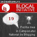 Poziția mea în Campionatul Național de Blogging