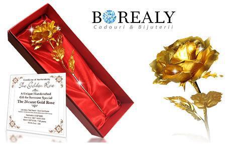 cadouri borealy trandafir aur 24k 767 5562261202 Cadouri pentru necunoscuți dar cu rol marcant în viața mea