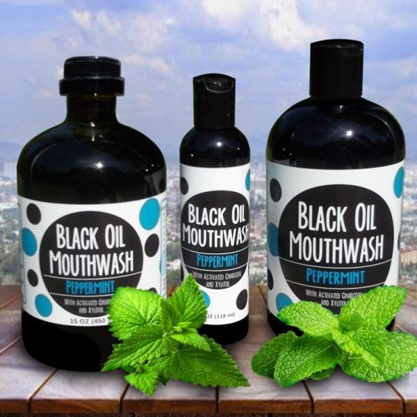 group peppermint Sănătate orală cu Black Oil Mouthwash/Oral health with Black Oil Mouthwash