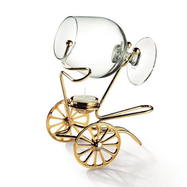 Cadouri - încălzitor de cognac placat cu aur