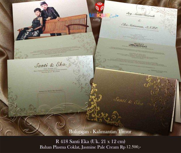 undangan pernikahan di kalimantan Santi Eka