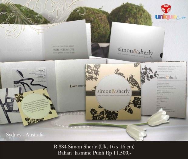 australia wedding invitation Simon Sherly