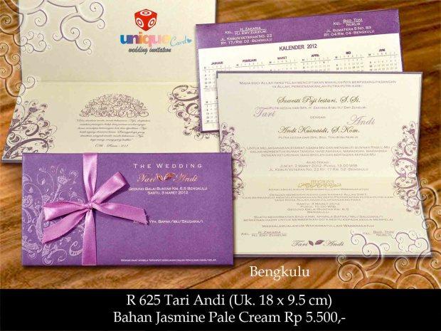undangan pernikahan Tari Andi