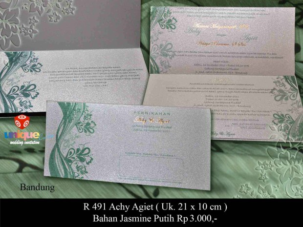 undangan pernikahan Achie Agit