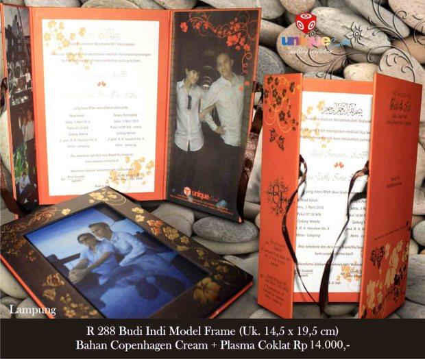 undangan hard cover frame Budi Indi