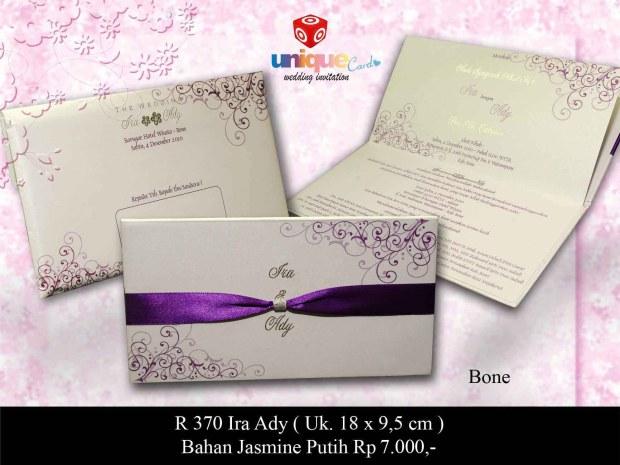 undangan pernikahan Ira Ady