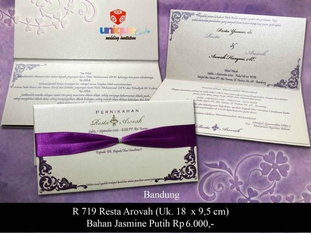 undangan pernikahan Resta Arofah