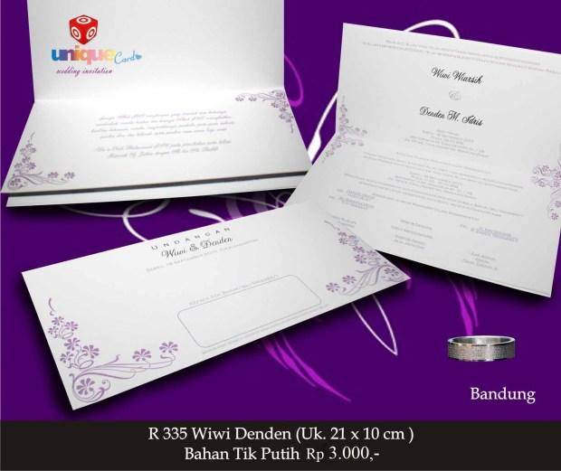 undangan pernikahan Wiwi Denden