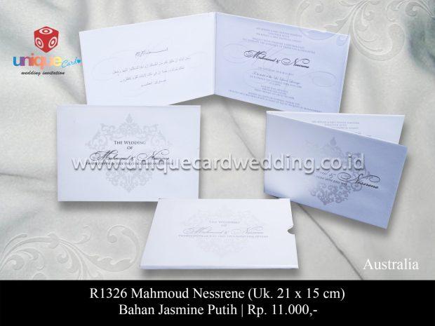 undangan nikah Mahmoud Nessrene