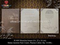 undangan pernikahan Moetchia Irman