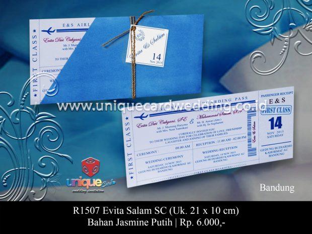 undangan boarding pass Evita Salam SC