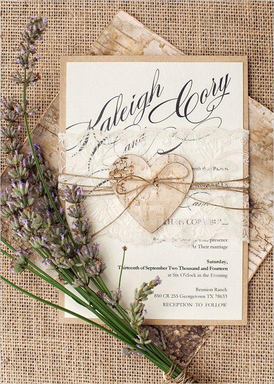 8 Desain Kartu Undangan Pernikahan Rustic Yang Unik Dan Hangat