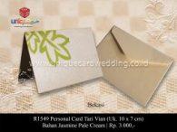 Undangan Pernikahan Personal Card Tari Vian