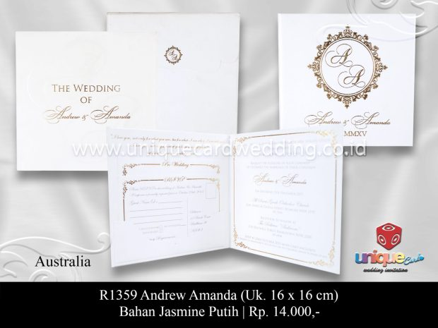 undangan pernikahan andrew amanda