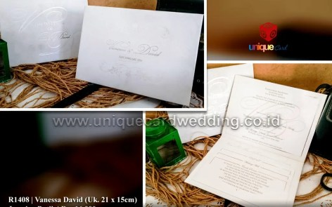 vanessa david wedding invitation