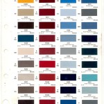Ford Trucks Paint Chart Color Reference