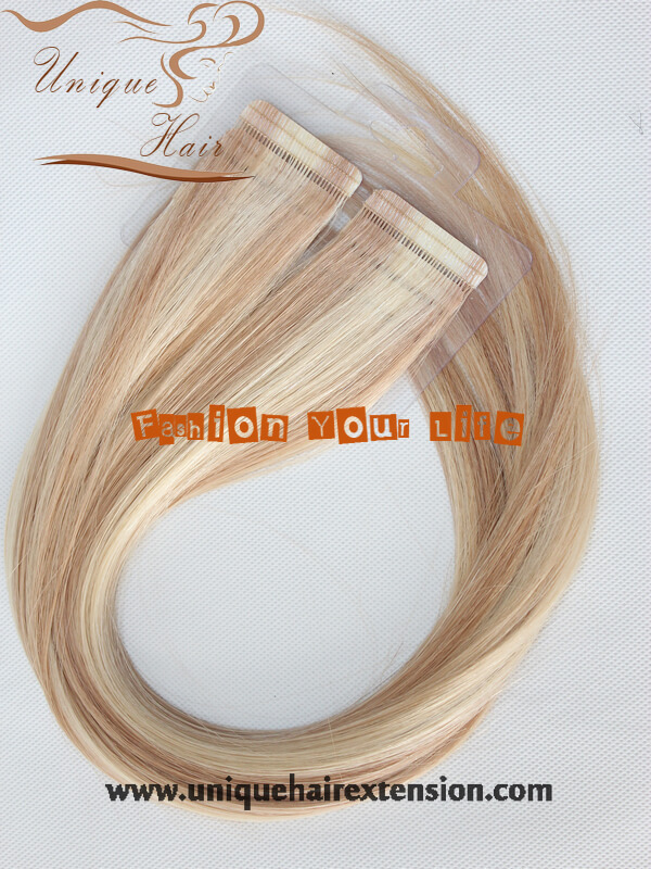 Seamless Tape In Hair Extensions Piano Color 100 Remy